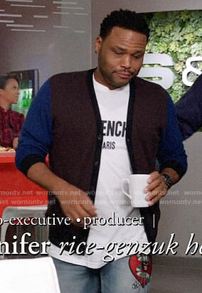 Andre's Givenchy tee and snake patch jeans on Black-ish