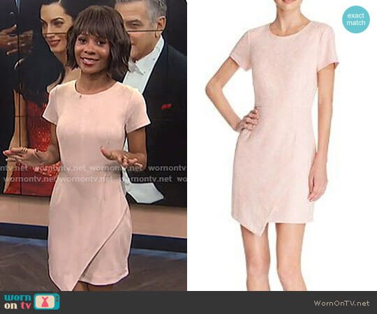 Faux Suede Dress by Aqua worn by Zuri Hall on E! News