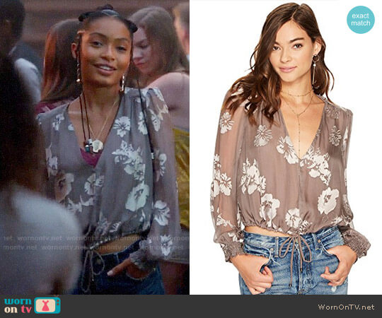 ASTR Tiffany Top worn by Zoey Johnson (Yara Shahidi) on Grown-ish