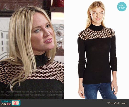 Bailey 44 Jules Sweater worn by Sharon Collins (Sharon Case) on The Young & the Restless