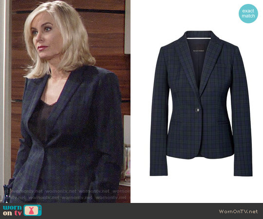 Banana Republic Tartan Suit worn by Ashley Abbott (Eileen Davidson) on The Young & the Restless