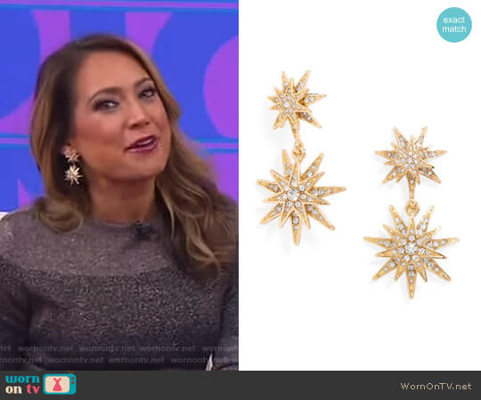 'Celestial' Drop Earrings worn by Ginger Zee  on Good Morning America