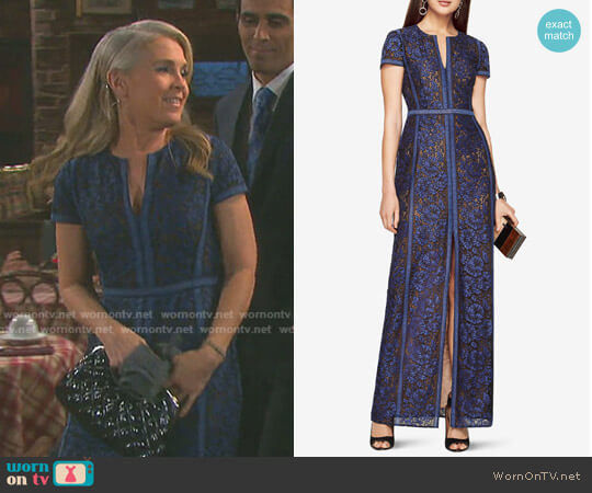 'Cailean' Floral Lace Gown by Bcbgmaxazria worn by Melissa Reeves on Days of our Lives