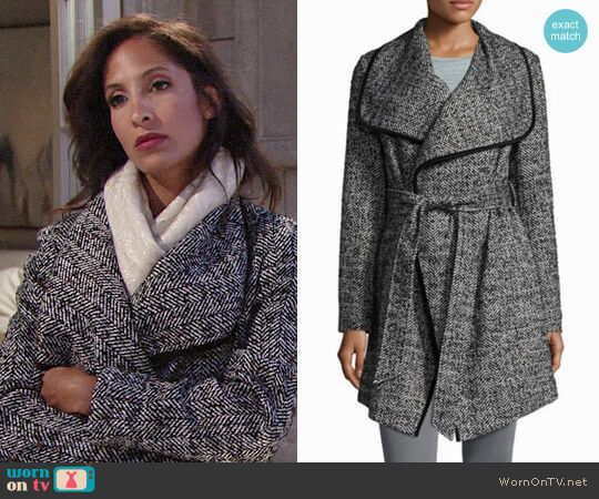 Bcbgeneration Hand Stitching Coat worn by Lily Winters (Christel Khalil) on The Young & the Restless