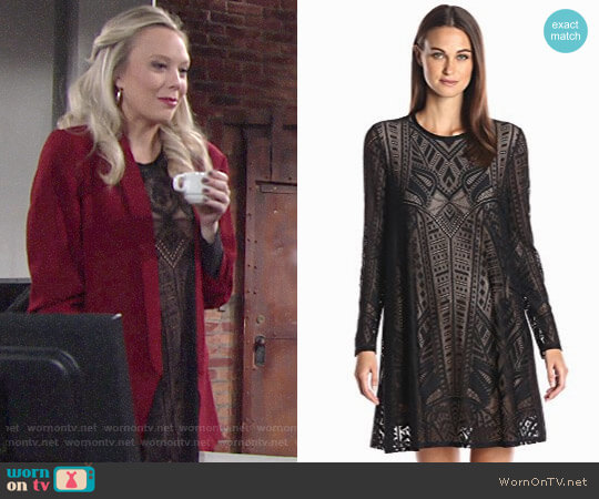 Bcbgmaxazria Natyly Dress worn by Melissa Ordway on The Young & the Restless
