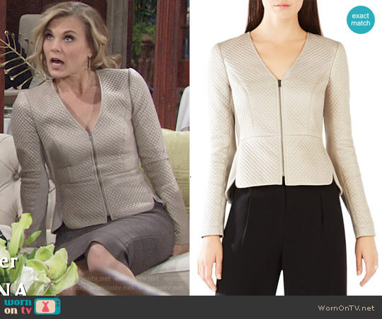 Bcbgmaxazria Pearson Jacket worn by Gina Tognoni on The Young & the Restless