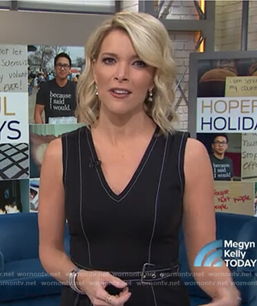 Megyn's belted v-neck dress on Megyn Kelly Today