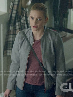 Betty's grey bomber jacket on Riverdale