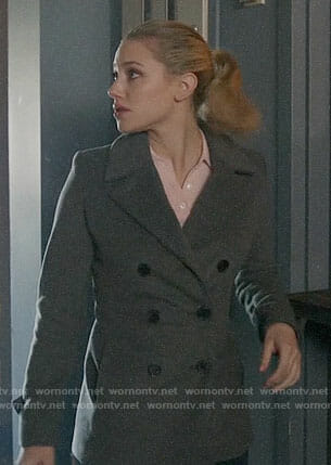 Betty's charcoal peacoat on Riverdale