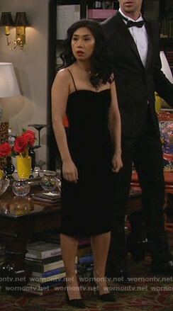 Eve's black bustier dress on 9JKL