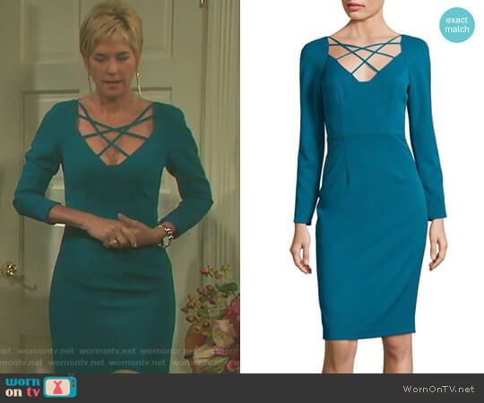 'Masca' Dress in Jade by Black Halo worn by Eve Donovan (Kassie DePaiva) on Days of our Lives