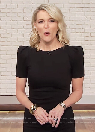 Megyn's black puff shoulder dress on Megyn Kelly Today