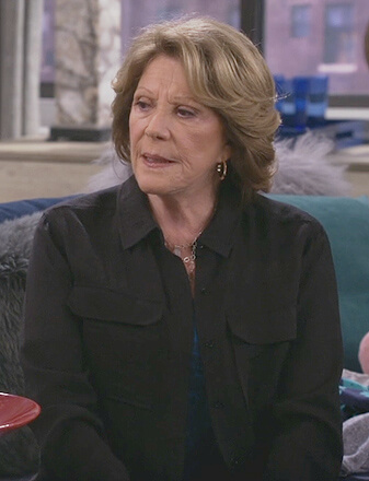Judy's black utility shirt on 9JKL
