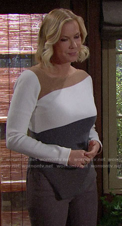 Brooke's colorblock sweater on The Bold and the Beautiful