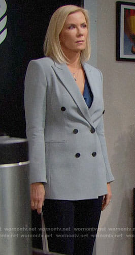 Brooke's double breasted blazer on The Bold and the Beautiful