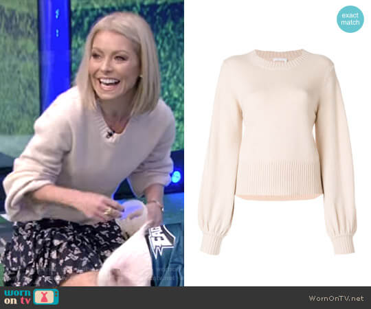 Bell Sleeved Sweater by Chloe worn by Kelly Ripa (Kelly Ripa) on Live with Kelly & Ryan