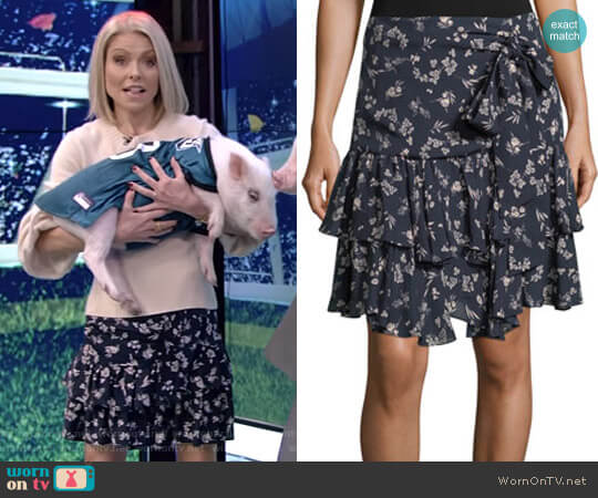 'Carson' Skirt by Cinq a Sept worn by Kelly Ripa on Live with Kelly & Ryan