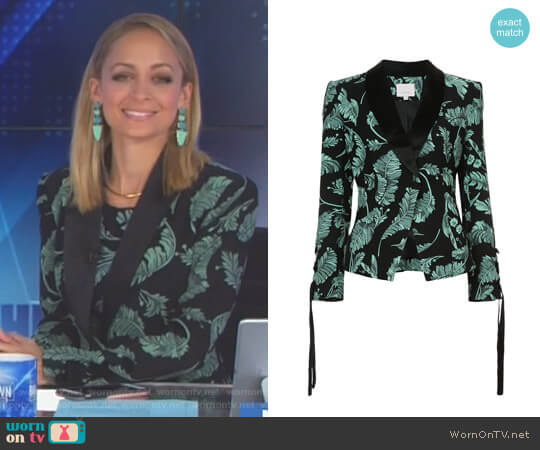 Leaf Printed Blazer by Cinq a Sept worn by Nicole Richie on Great News