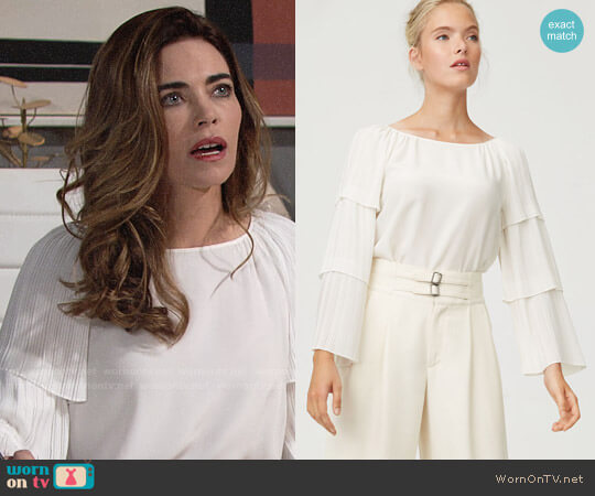 Club Monaco Truleen Top worn by Amelia Heinle on The Young & the Restless