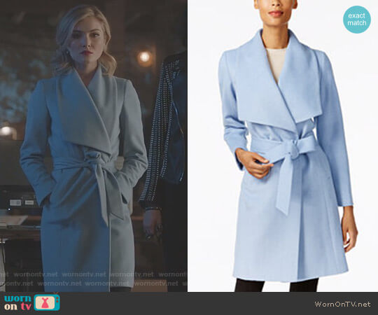 Wrap Coat by Cole Haan worn by Skyler Samuels on The Gifted worn by The Frost Sisters (Skyler Samuels) on The Gifted
