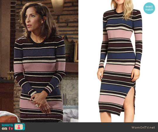 Cupcakes and Cashmere Barrow Dress worn by Christel Khalil on The Young & the Restless