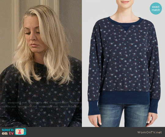 Current Elliott Stadium Floral Print Sweatshirt  worn by Penny Hofstadter (Kaley Cuoco) on The Big Bang Theory