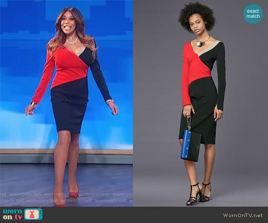 Colorblocked dress by Diane von Furstenberg worn by Wendy Williams on The Wendy Williams Show
