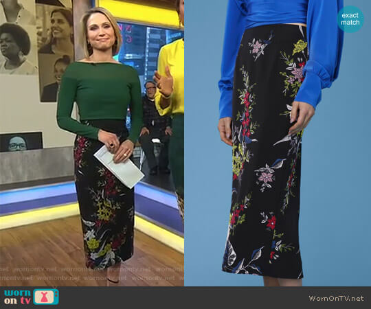 Tailored Midi Pencil Skirt by Diane von Furstenberg worn by Amy Robach on Good Morning America