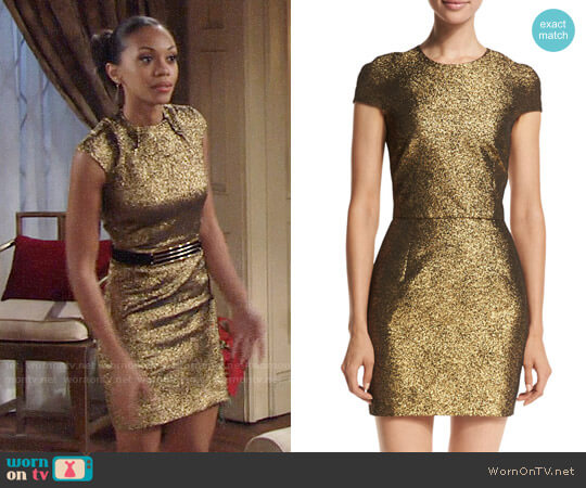 Diane von Furstenberg Hadlie Dress worn by Mishael Morgan on The Young & the Restless
