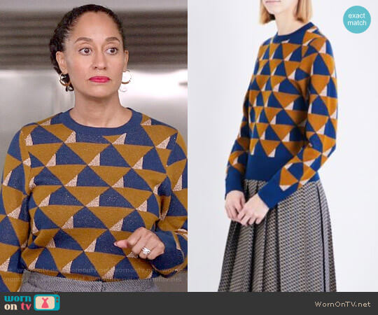 Dries van Noten Tamara Sweater worn by Tracee Ellis Ross on Blackish