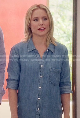 Eleanor's chambray shirt on The Good Place