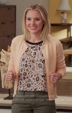 Eleanor's floral top on The Good Place