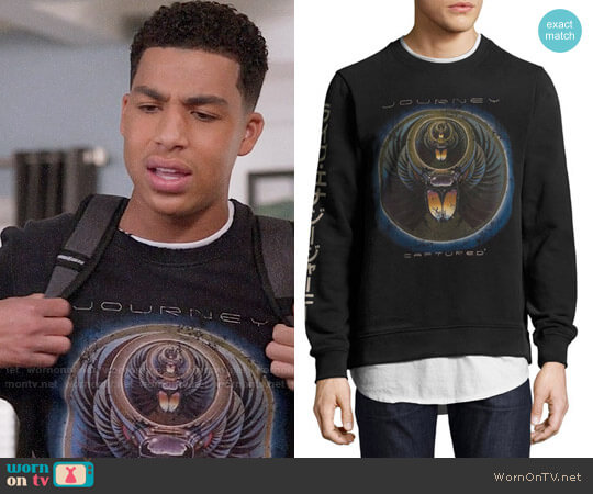 Eleven Paris Journey Captured Sweatshirt worn by Marcus Scribner on Blackish