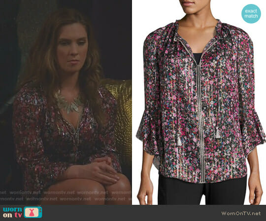 'Venisia' Blouse by Elie Tahari worn by Briga Heelan on Great News