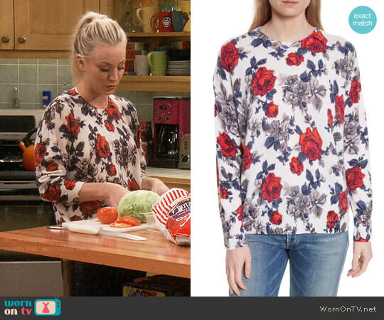 Equipment Melanie Rose Sweater worn by Kaley Cuoco on The Big Bang Theory