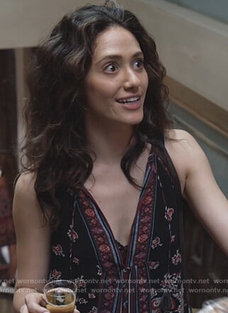 Fiona's floral print tassel top on Shameless