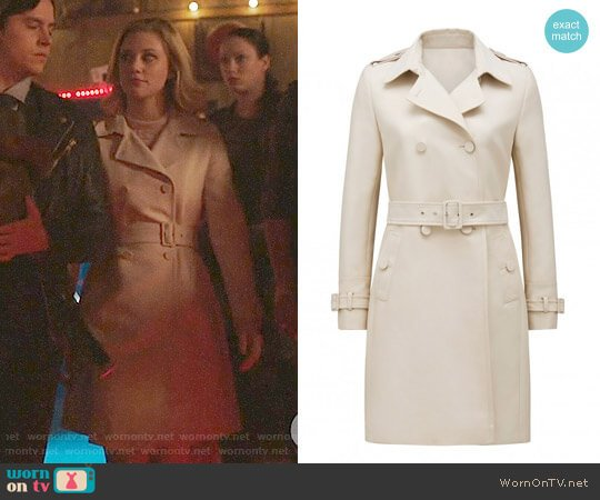 Ever New Monica Trench Coat worn by Betty Cooper (Lili Reinhart) on Riverdale