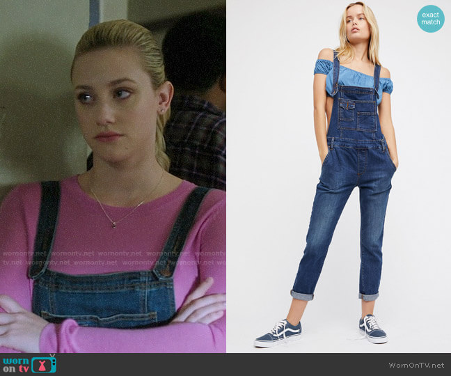 Free People Washed Denim Overalls worn by Betty Cooper (Lili Reinhart) on Riverdale