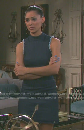 Gabi's denim mock neck dress on Days of our Lives
