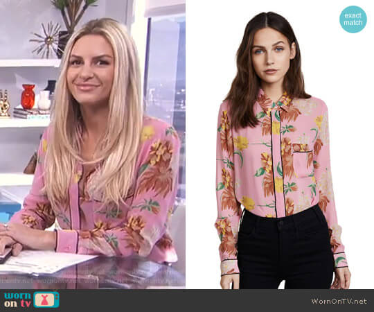 'Marceau' Shirt by Ganni worn by Morgan Stewart  on E! News