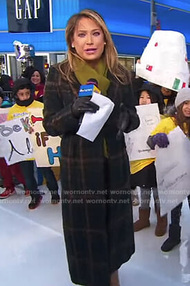 Ginger's plaid coat on Good Morning America