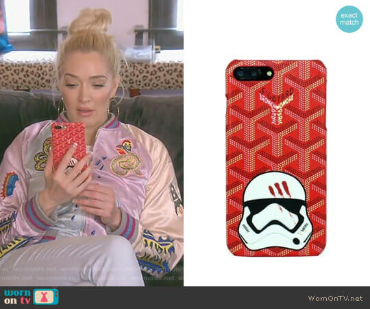 Red iPhone Case by Goyard worn by Erika Girardi  on The Real Housewives of Beverly Hills