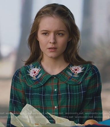 Taylor's green plaid embroidered shirt on The Fosters