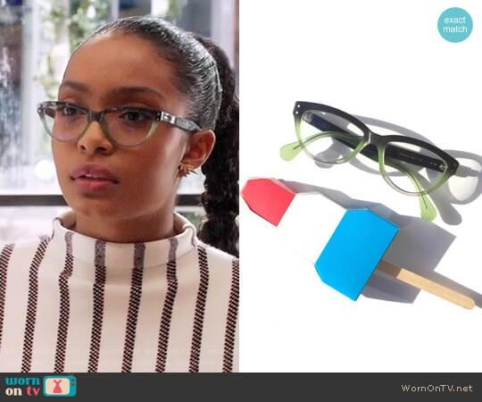 Gro Eyewear Khaleesi Glasses worn by Zoey Johnson (Yara Shahidi) on Grown-ish