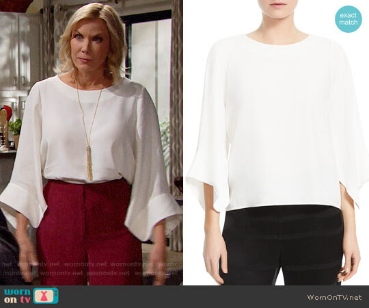 Halston Heritage Batwing Sleeve Top worn by Katherine Kelly Lang on The Bold & the Beautiful