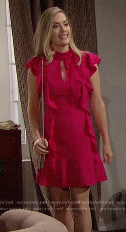 Hope's pink ruffled dress on The Bold and the Beautiful