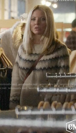 Jessie's beige chevron sweater on Nashville