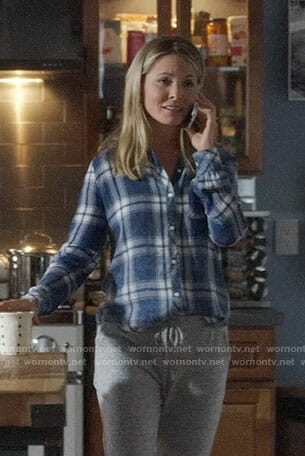 Jessie's blue plaid shirt on Nashville