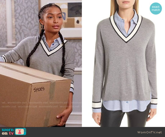 Joie Belva Sweater worn by Zoey Johnson (Yara Shahidi) on Blackish