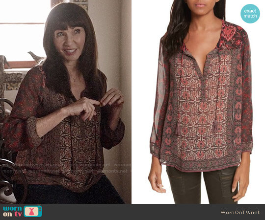 Joie Katja Top worn by Mary Steenburgen on Last Man On Earth